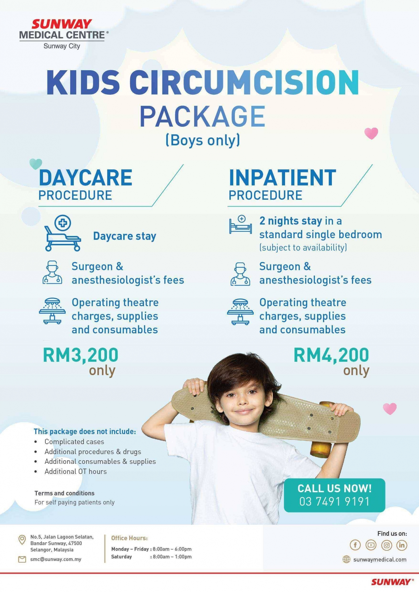 Kids Circumcision Package (Boys only)