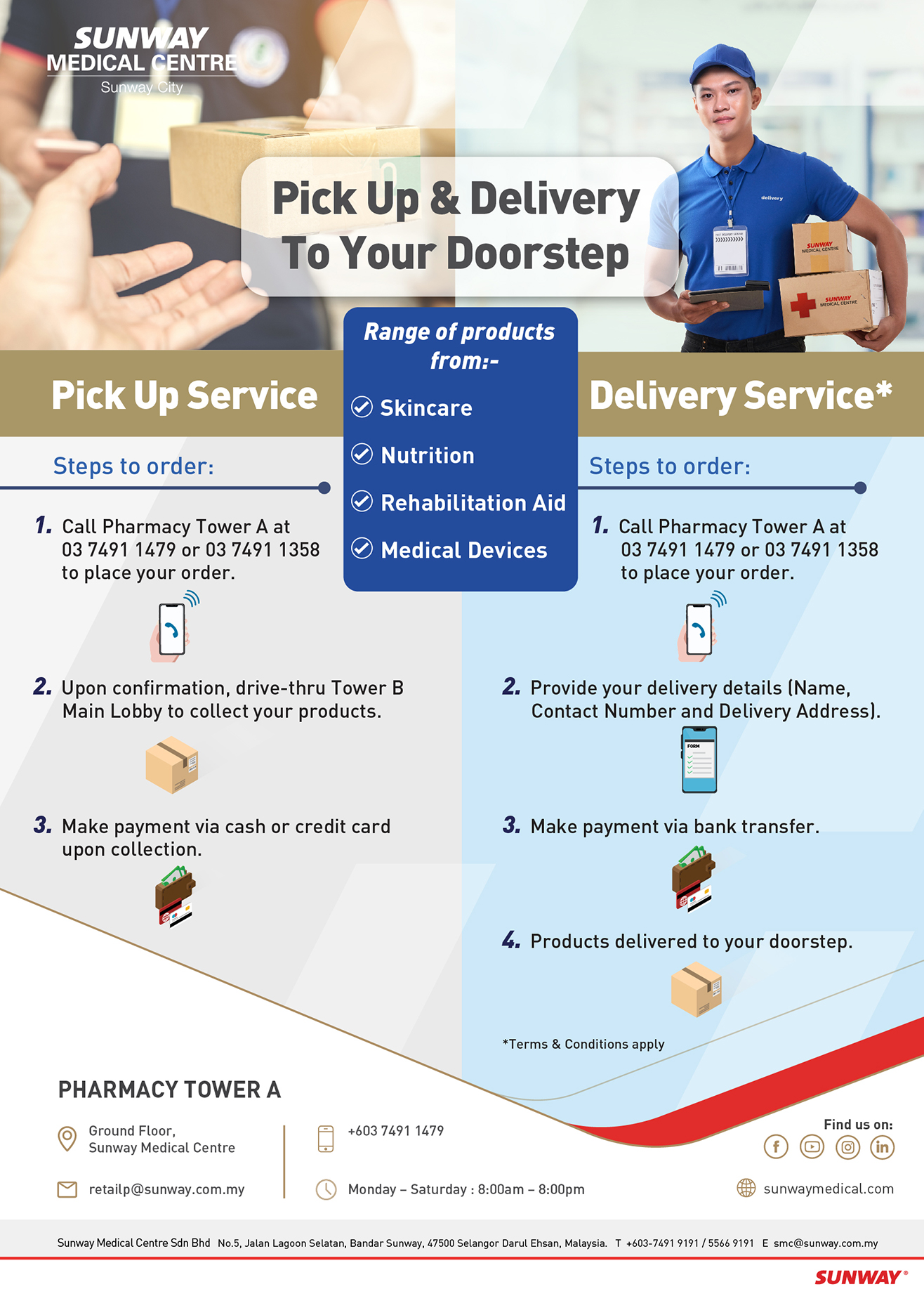 Pick Up & Delivery To Your Doorstep